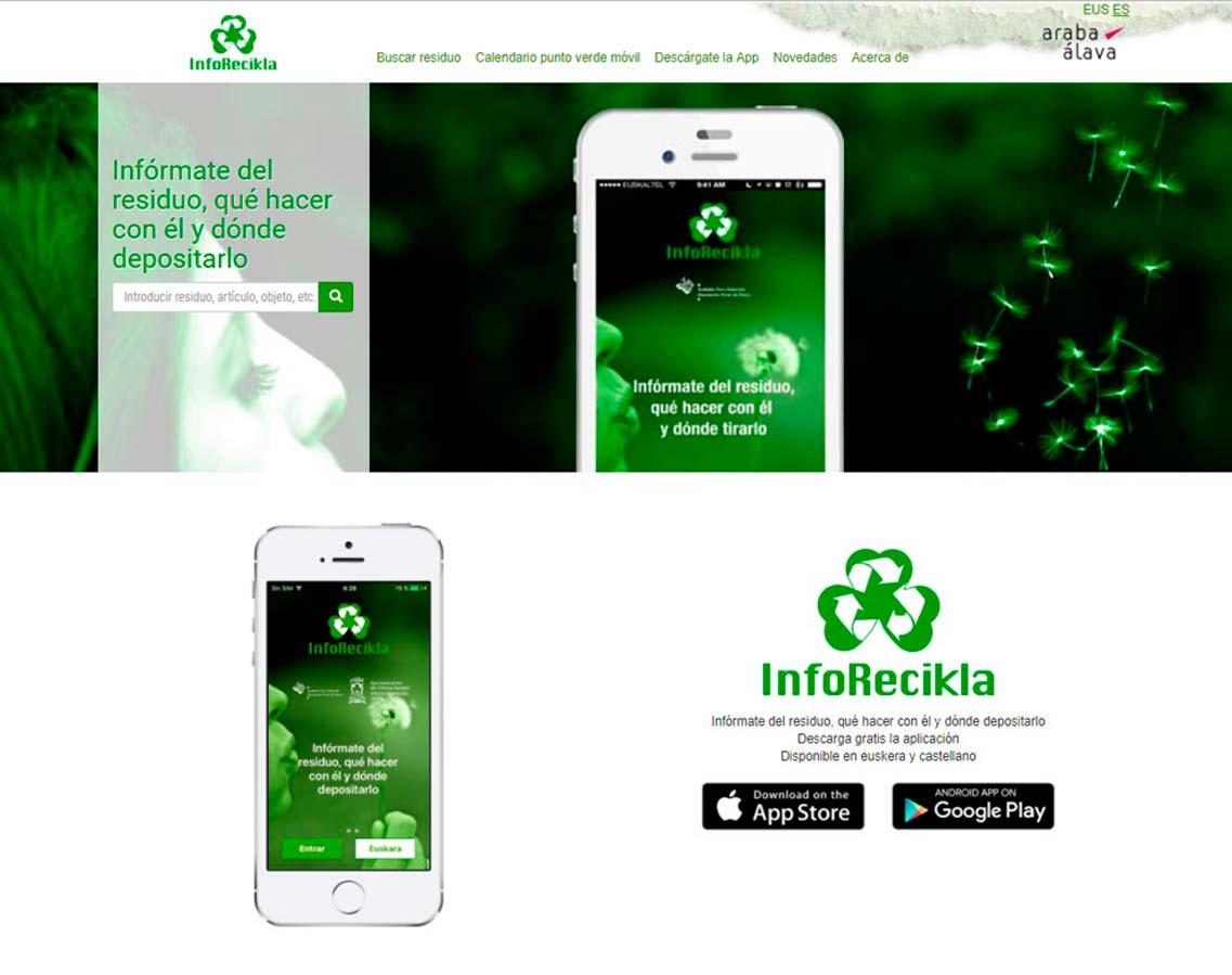 Web y app Inforecikla